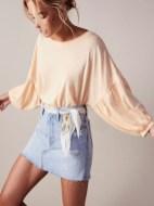 Elegant Denim Skirts Outfits Ideas For Spring30