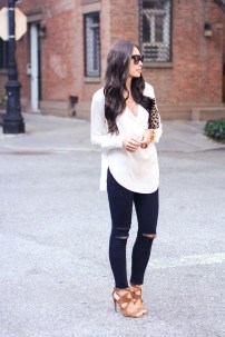 Lovely Spring Outfits Ideas With White Top11