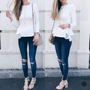 Lovely Spring Outfits Ideas With White Top26