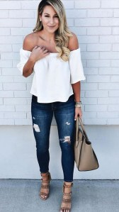 Lovely Spring Outfits Ideas With White Top43