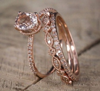 Brilliant Rose Gold Wedding Rings Ideas06