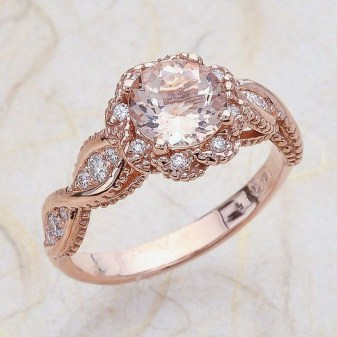 Brilliant Rose Gold Wedding Rings Ideas12