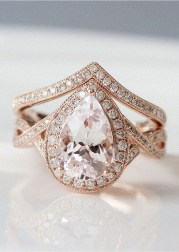 Brilliant Rose Gold Wedding Rings Ideas25