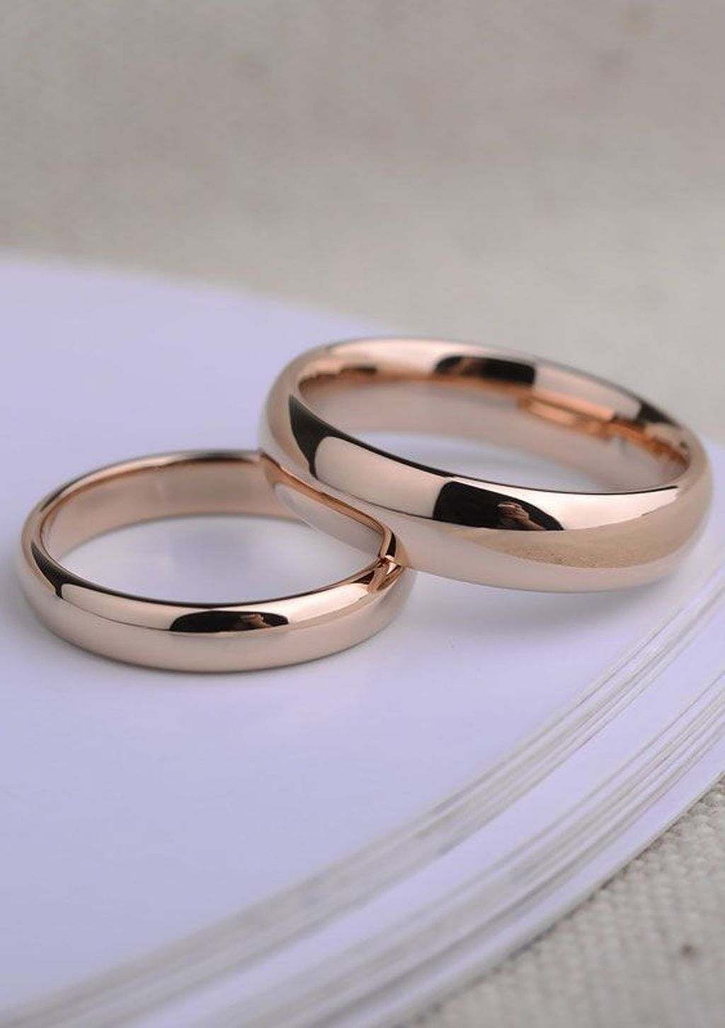 Brilliant Rose Gold Wedding Rings Ideas26
