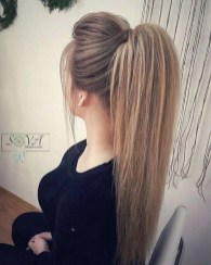 Charming Ponytail Hairstyles Ideas With Sophisticated Vibe04