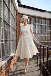 Gorgeous Tea Length Wedding Dresses Ideas04
