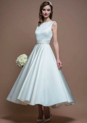 Gorgeous Tea Length Wedding Dresses Ideas06