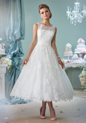 Gorgeous Tea Length Wedding Dresses Ideas18