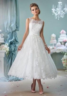 Gorgeous Tea Length Wedding Dresses Ideas18