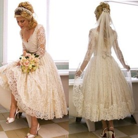 Gorgeous Tea Length Wedding Dresses Ideas28