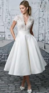 Gorgeous Tea Length Wedding Dresses Ideas38