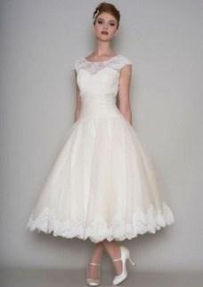 Gorgeous Tea Length Wedding Dresses Ideas39
