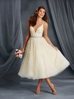 Gorgeous Tea Length Wedding Dresses Ideas41