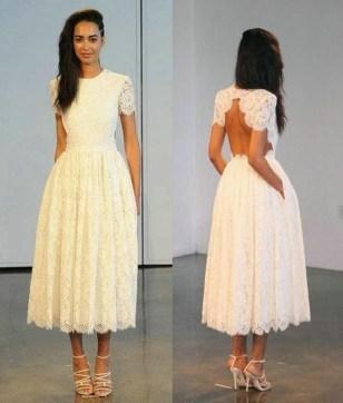 Gorgeous Tea Length Wedding Dresses Ideas42
