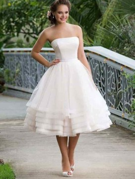 Gorgeous Tea Length Wedding Dresses Ideas44