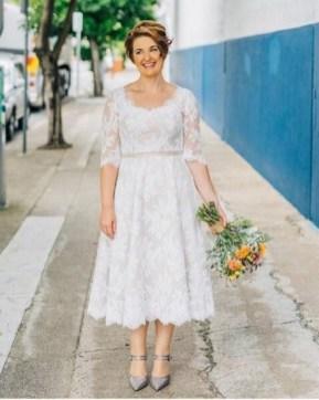 Gorgeous Tea Length Wedding Dresses Ideas45
