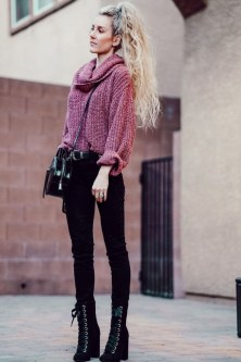 Impressive Sweater Outfits Ideas For Spring06