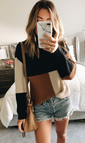 Impressive Sweater Outfits Ideas For Spring43