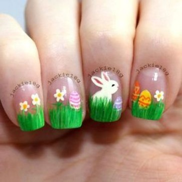 Modern Easter Nail Art Design Ideas29
