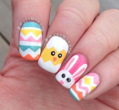 Modern Easter Nail Art Design Ideas30