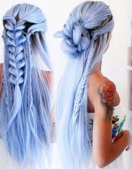 Stylish Mermaid Braid Hairstyles Ideas For Girls11