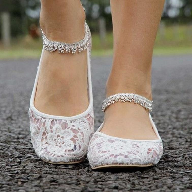 Captivating Flat Wedding Shoes Ideas06