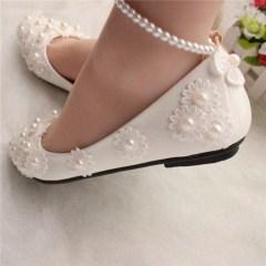 Captivating Flat Wedding Shoes Ideas12