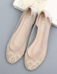 Captivating Flat Wedding Shoes Ideas28