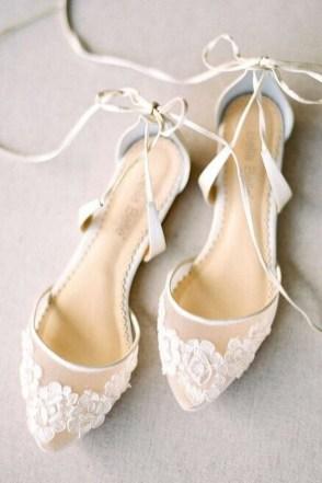 Captivating Flat Wedding Shoes Ideas35