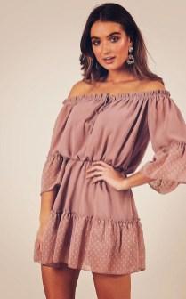 Cozy Open Shoulders Dresses Ideas For Summer01