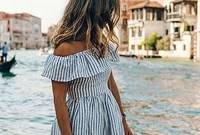 Cozy Open Shoulders Dresses Ideas For Summer26