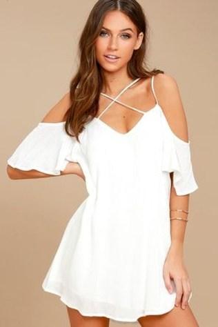 Cozy Open Shoulders Dresses Ideas For Summer39