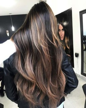 Elegant Dark Brown Hair Color Ideas With Highlights07