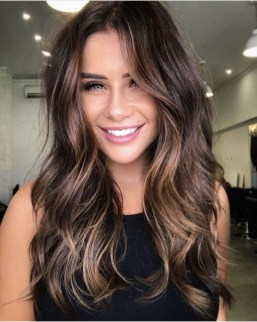 Elegant Dark Brown Hair Color Ideas With Highlights15