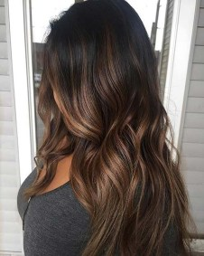 Elegant Dark Brown Hair Color Ideas With Highlights22