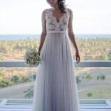 Pretty V Neck Tulle Wedding Dress Ideas For 201922