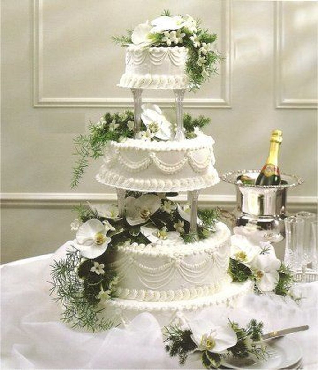 44 Pretty Wedding Cake Ideas For Old Fashioned Addicfashion
