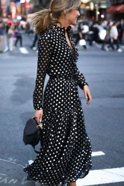 Delicate Polka Dot Maxi Skirt Ideas For Reunion36