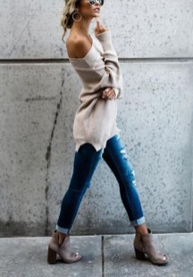 Affordable Women Outfit Ideas For Summer With Sweaters20