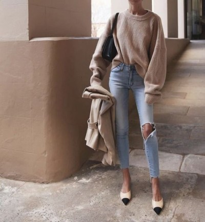 Affordable Women Outfit Ideas For Summer With Sweaters24
