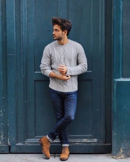 Elegant Winter Outfits Ideas For Men07
