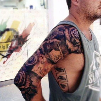 Gorgeous Arm Tattoo Design Ideas For Men That Looks Cool04
