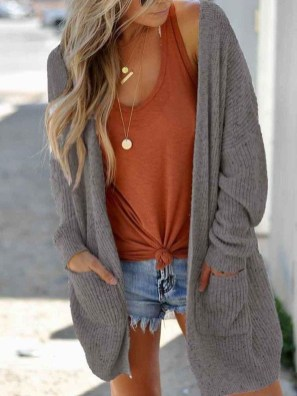 Gorgeous Summer Outfit Ideas With Cardigans For Women24