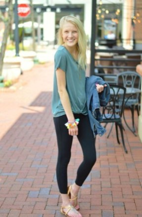 Inspiring Summer Outfits Ideas With Leggings To Try07