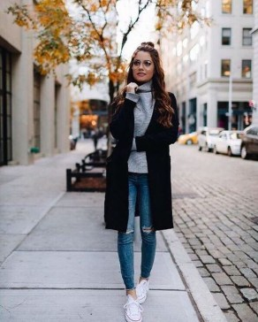Attractive Sneakers Outfit Ideas For Fall And Winter06