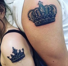 Comfy Crown Tattoos Ideas Youll Need To See07