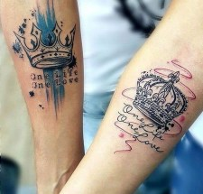Comfy Crown Tattoos Ideas Youll Need To See13