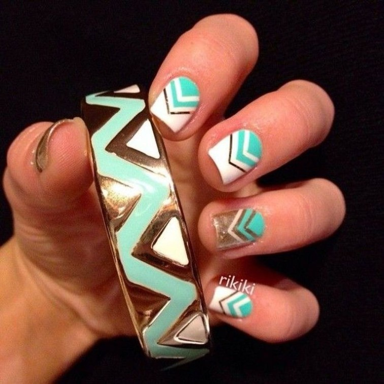 Cozy Aztec Nail Art Designs Ideas You Will Love To Copy23