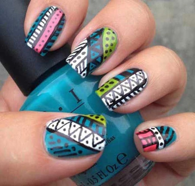 Cozy Aztec Nail Art Designs Ideas You Will Love To Copy31