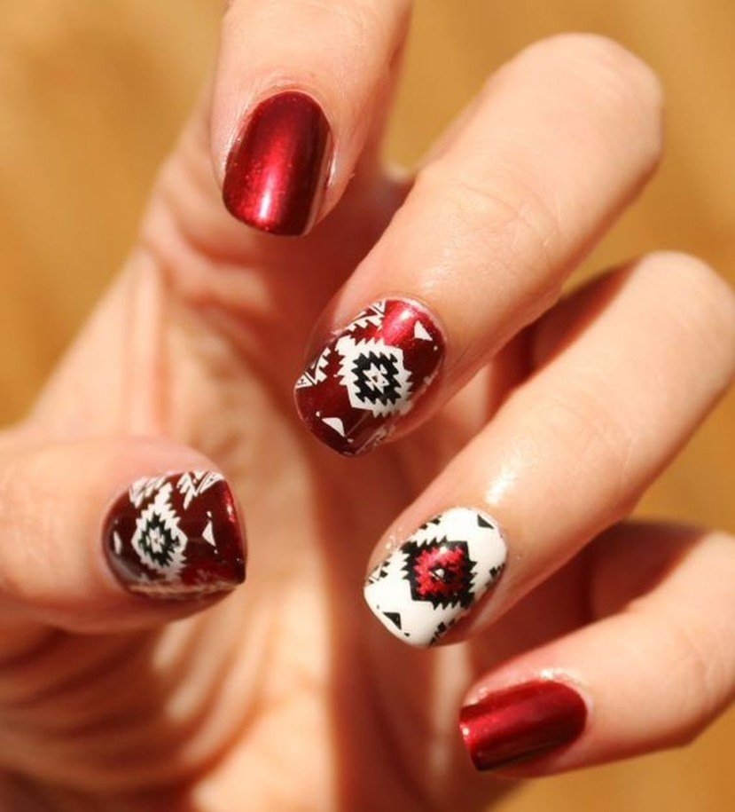 Cozy Aztec Nail Art Designs Ideas You Will Love To Copy35
